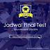 Jadwal Final Test Semester Genap Tahun Akademik 2015/2016