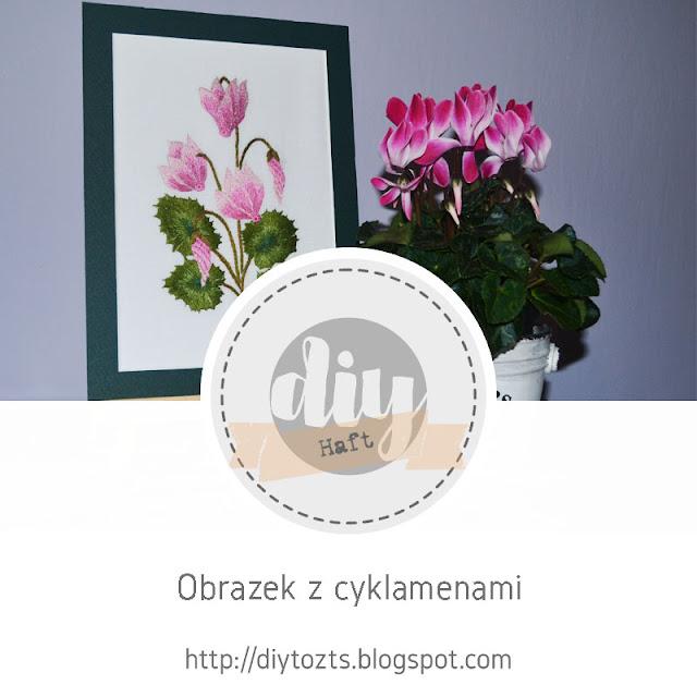 HAFT - obrazek z cyklamenami