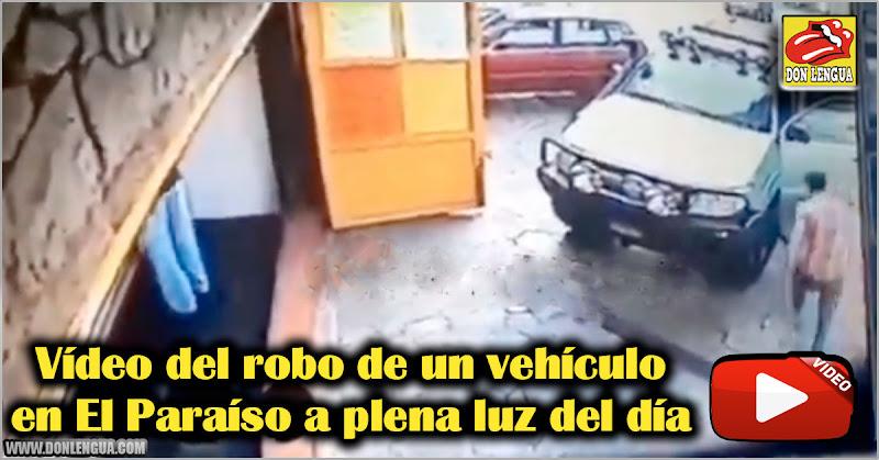 Vídeo del robo de un vehículo en El Paraíso a plena luz del día
