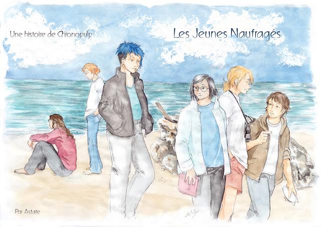 illustration à l'aquarelle - Les Jeunes Naufragés, un projet Chronopulp