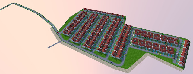 membuat site plan perumahan