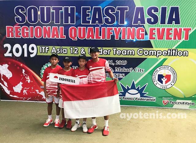 Skuad Tenis Yunior U12 Indonesia Sabet Juara South East Asia (SEA) Regional Qualifying Event ITF Asia 12&U Team Competition