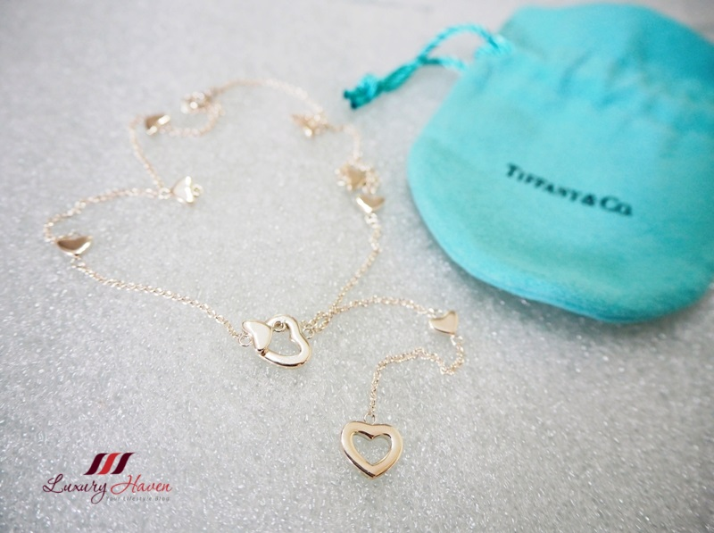 tiffany giveaway silver necklace heart link lariat