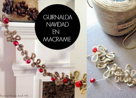 guirnalda, navidad, macrame, yute, manualidades, ornamentos