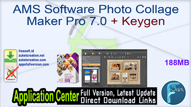 AMS Software Photo Collage Maker Pro 7.0 + Keygen