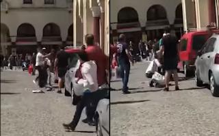 Θεσσαλονίκη: Αλλοδαπός προσπάθησε να ληστέψει νεαρό και έφαγε το ξύλο της χρονιάς του (Βίντεο)