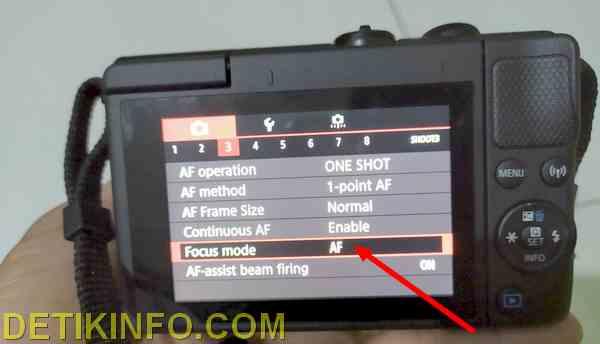 Menu pengaturan kamera EOS M100 canon