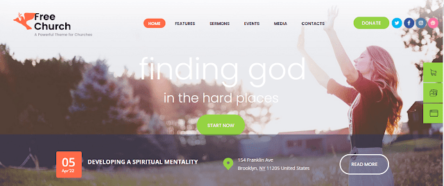 Best Nonprofit Church WordPress Themes With Donation System   Free Church