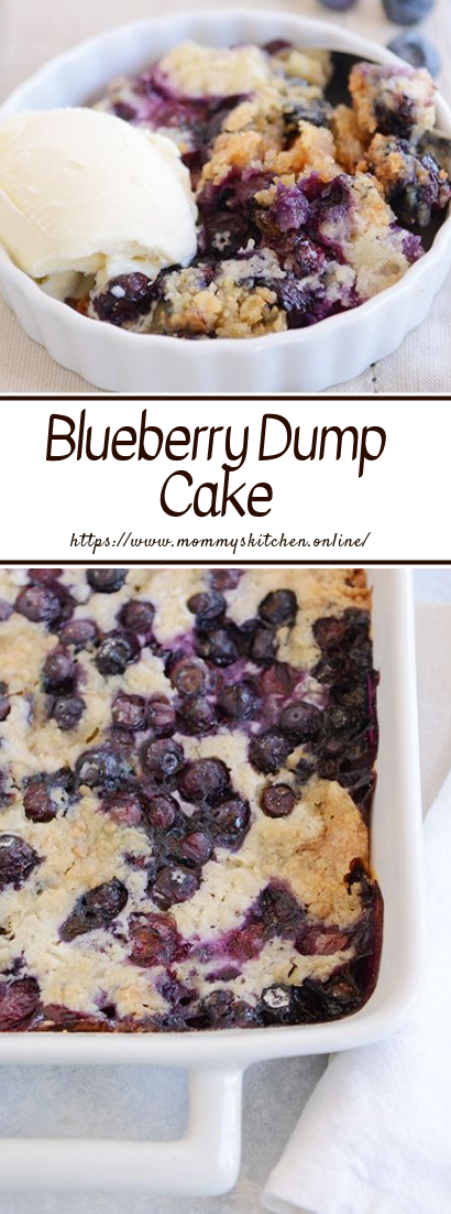 Blueberry Dump Cake #cheesecake #blueberrydelicious
