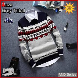 AND241 Sweater Pria Naza Grey Tribal BMGShop