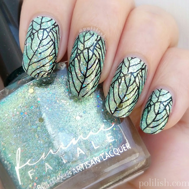 Femme Fatale Cosmetics 'Maze of Mirrors' stamping nail design, by polilish