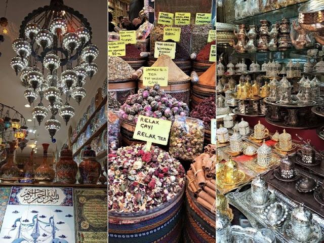 negozi vari nel bazar