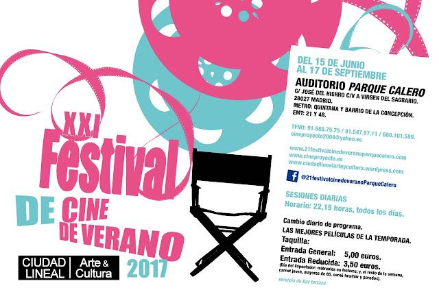 Programación Cine de Verano parque Calero 2017