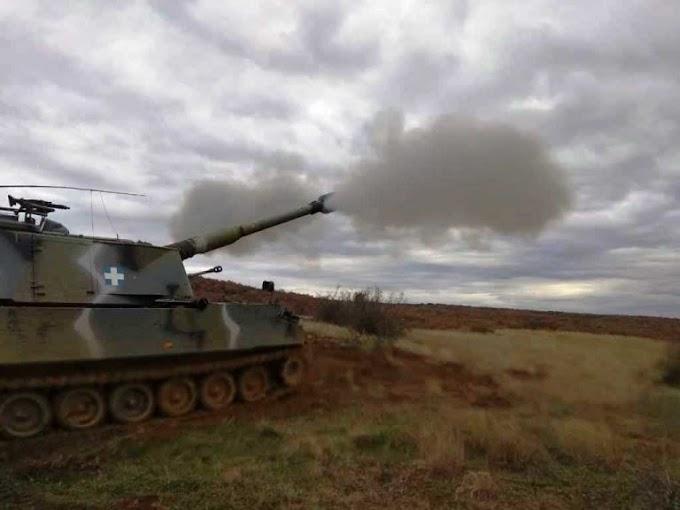 H δύναμη πυρός του πυροβολικού στη Θράκη - ΦΩΤΟ