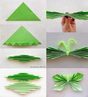 Cara Membuat Kerajinan Tangan Sederhana, Kupu-kupu Kertas 2