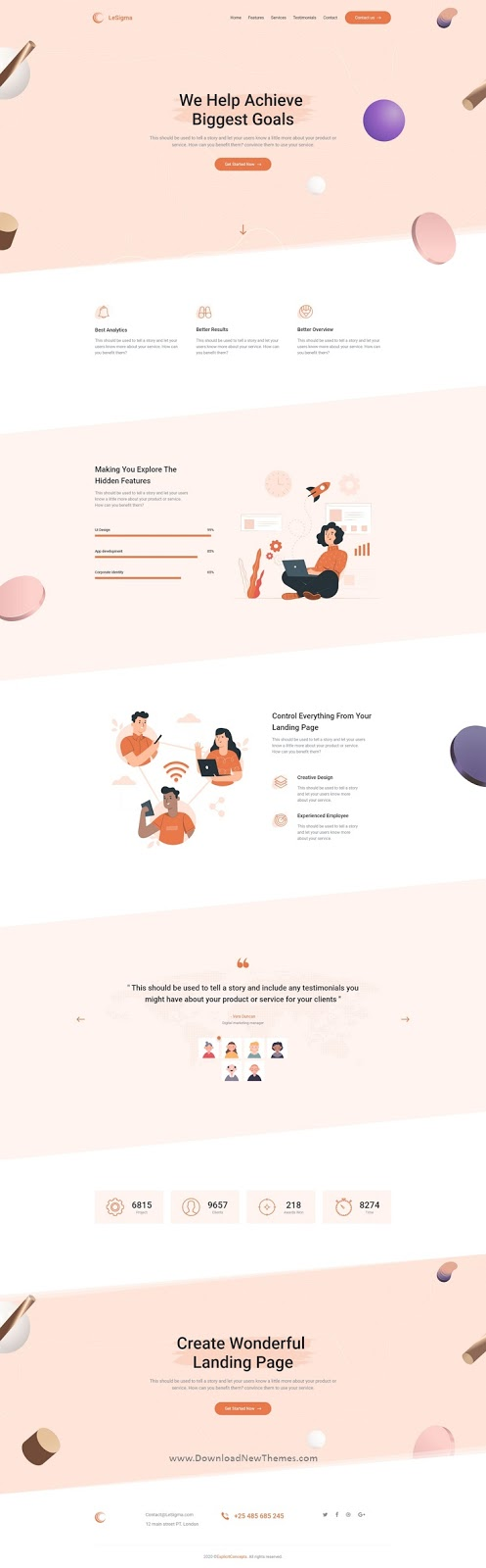 Business Adobe XD Landing Page Template