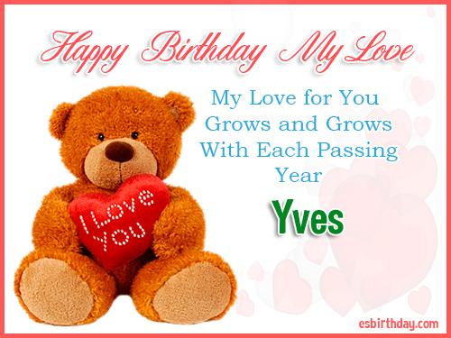 Yves Happy Birthday My Love