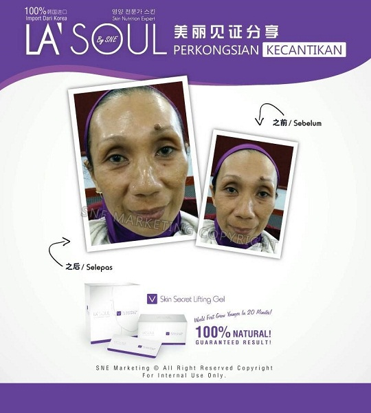testimoni la' soul lifting gel 18