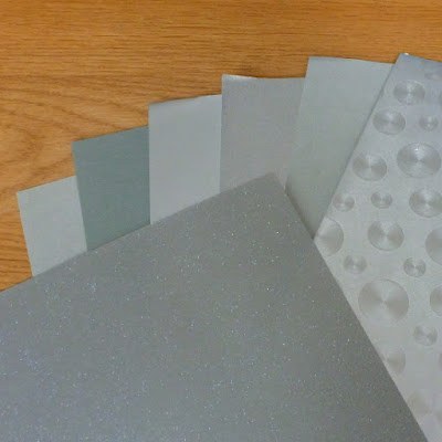 silver paper card selection