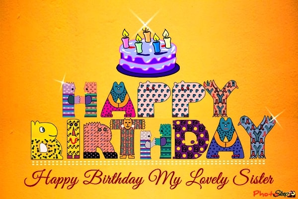 Best happy birthday lovely sweet Sister images, photos, Greeting, status, happy birthday didi