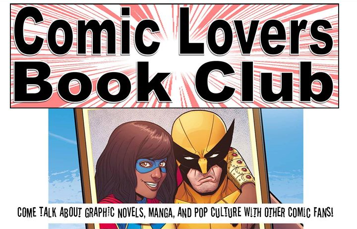 Comic Lovers Book Club at La Mesa Library promo