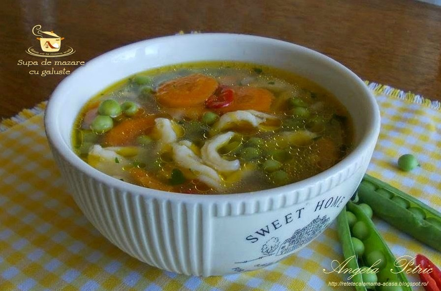 Reteta supa de mazare cu galuste
