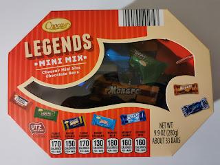 Packaging for Choceur Legends Mini Mix Candy Bar Assortment