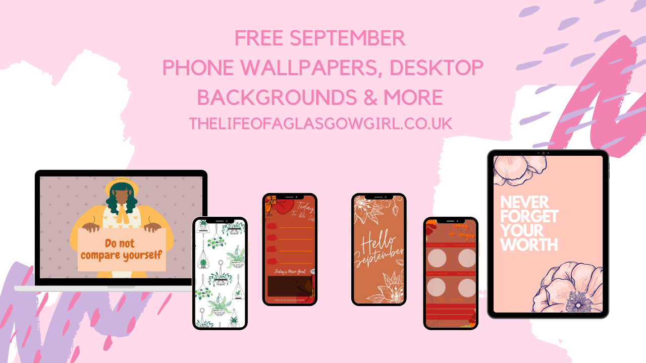 Graphic showing a selection of the freebies available on thelifeofaglasgowgirl.co.uk