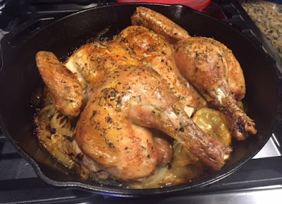 Skillet Roasted Lemon Chicken/Keto/NSNG