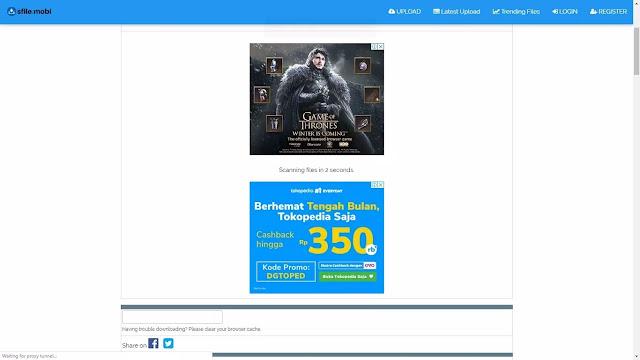tombol download config di sfile mobi