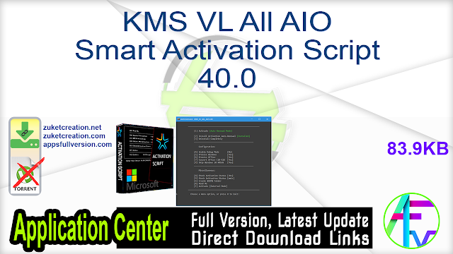 KMS VL All AIO Smart Activation Script 40.0