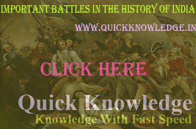 Important Battles in the History of India