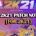 NBA 2K21 Patch 2 Notes