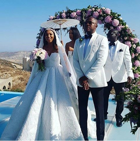 Stephanie Coker and Olumide Aderinokun wedding photo
