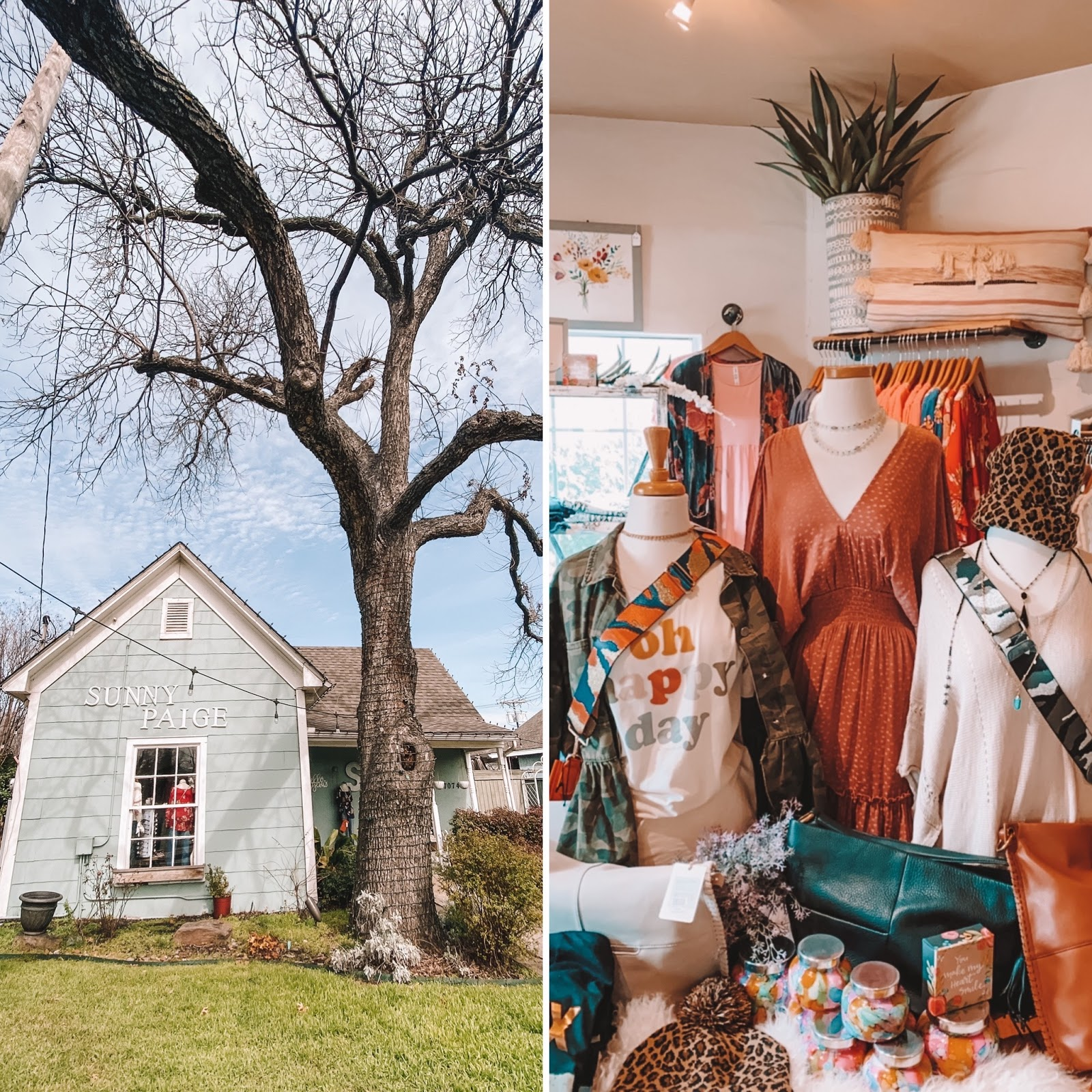 Sunny Paige boutique is located on Main Street in Frisco, Texas