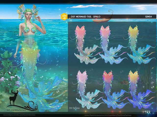 Хвосты и одежда для русалок The Sims 4 со ссылками на скачивание