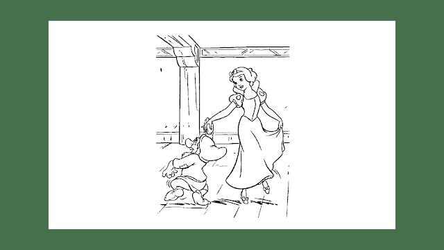 disegni, Biancaneve e i 7 nani, disegni da colorare,