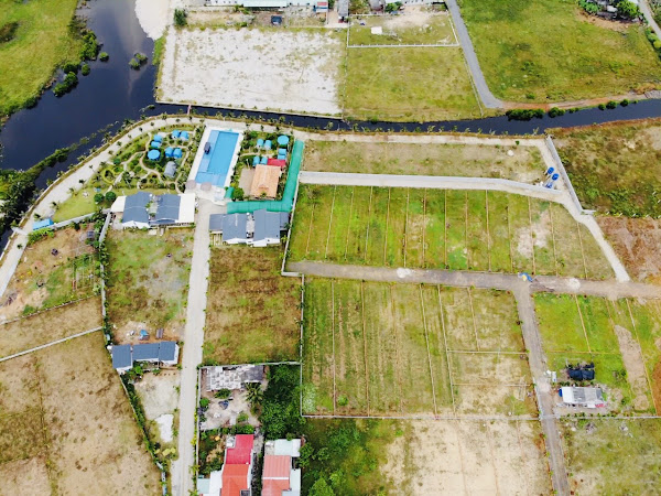 ảnh chụp từ flycam khu nghỉ dưỡng happy garden hồ tràm , thuộc ấp hồ tràm tỉnh br-vt