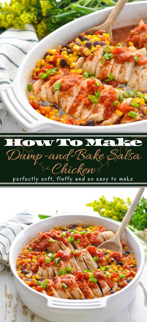 Dump-and-Bake Salsa Chicken #dinnerrecipe #food #amazingrecipe #easyrecipe