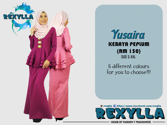 rexylla, kebaya, kebaya layered, peplum, yusaira collection