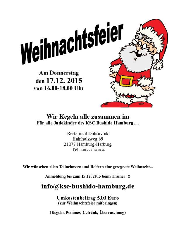 Weihnachtsfeier Harburg.Ksc Bushido Hamburg E V Weihnachtsfeier 2015