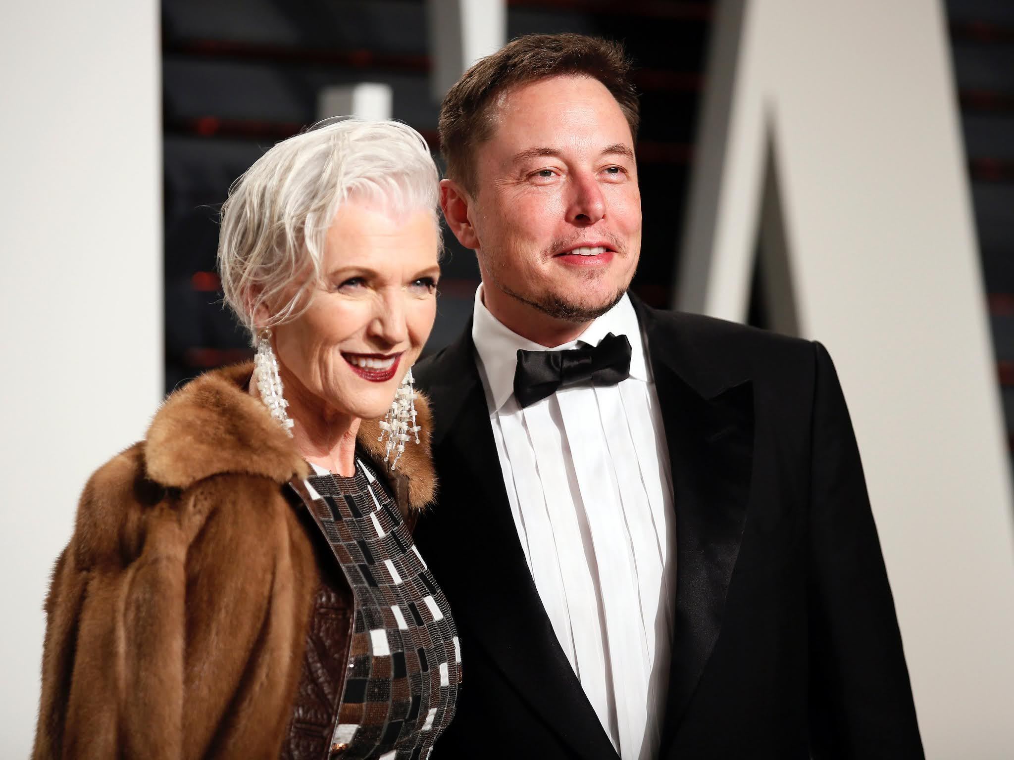 """May Mask, mother of Elon Musk, a famous model and expert in raising """"geniuses""""."""