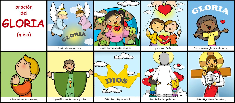 Rito Del Matrimonio Catolico Fuera De La Misa : Dibujos para catequesis oraciÓn del gloria misa