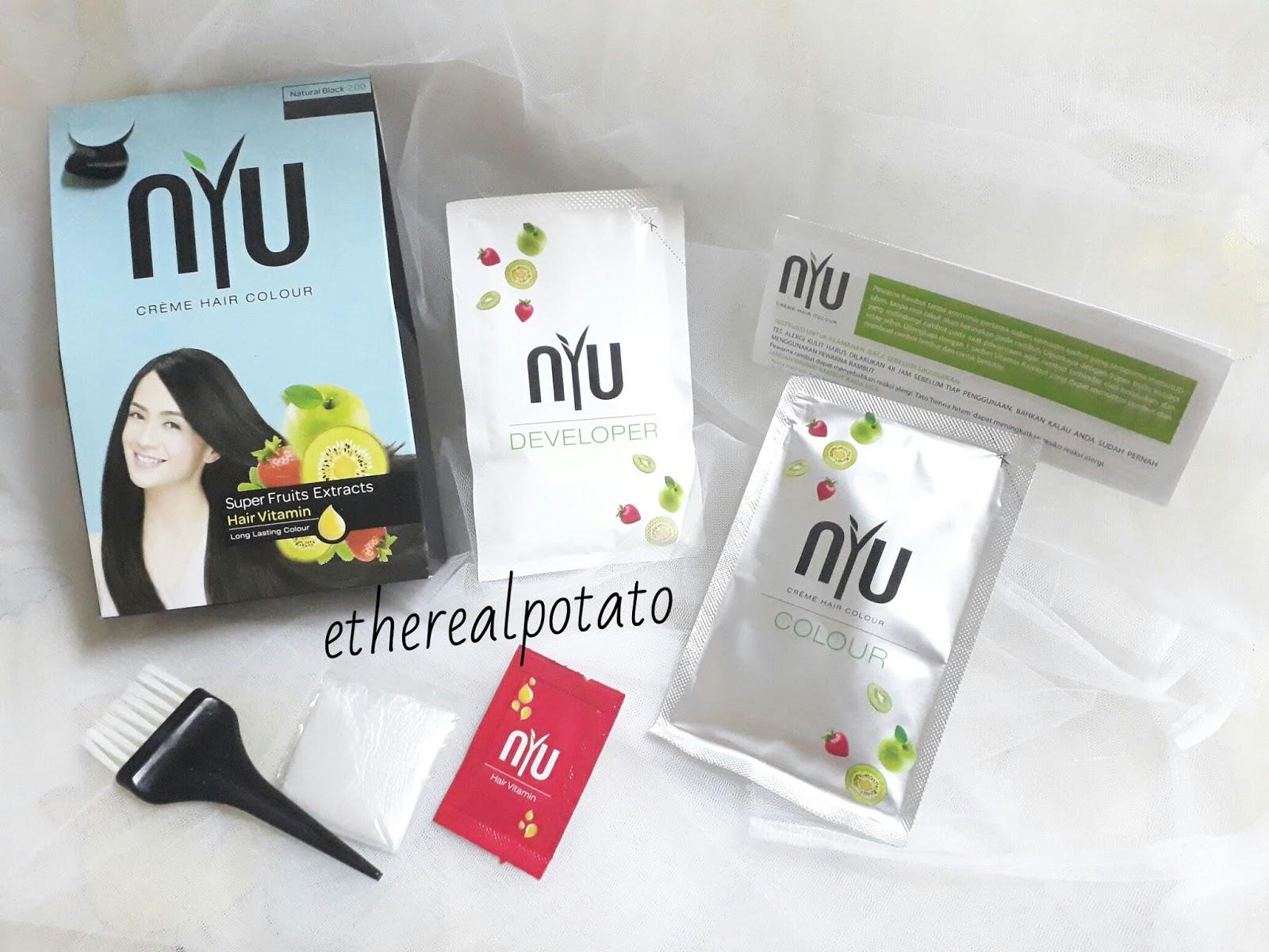 Review Nyu Creme Hair Colour Ethereal Potato Ellen Lim Sisir Cat Semir Rambut Mulai Dari 30ml Developer Sarung Tangan Net Contents Bahkan Vitamin Loh