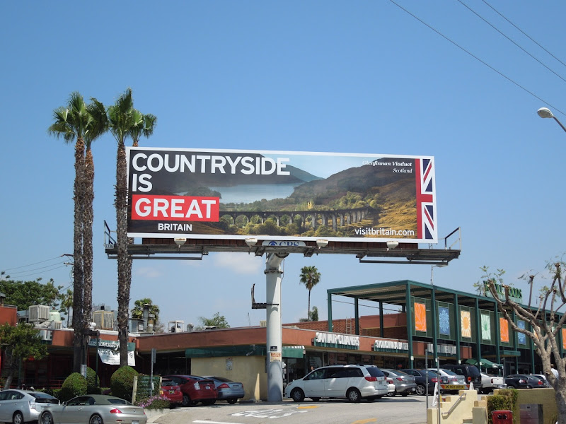 Countryside Great Visit Britain billboard