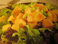 WARM CHICKEN SALAD WITH MANGO