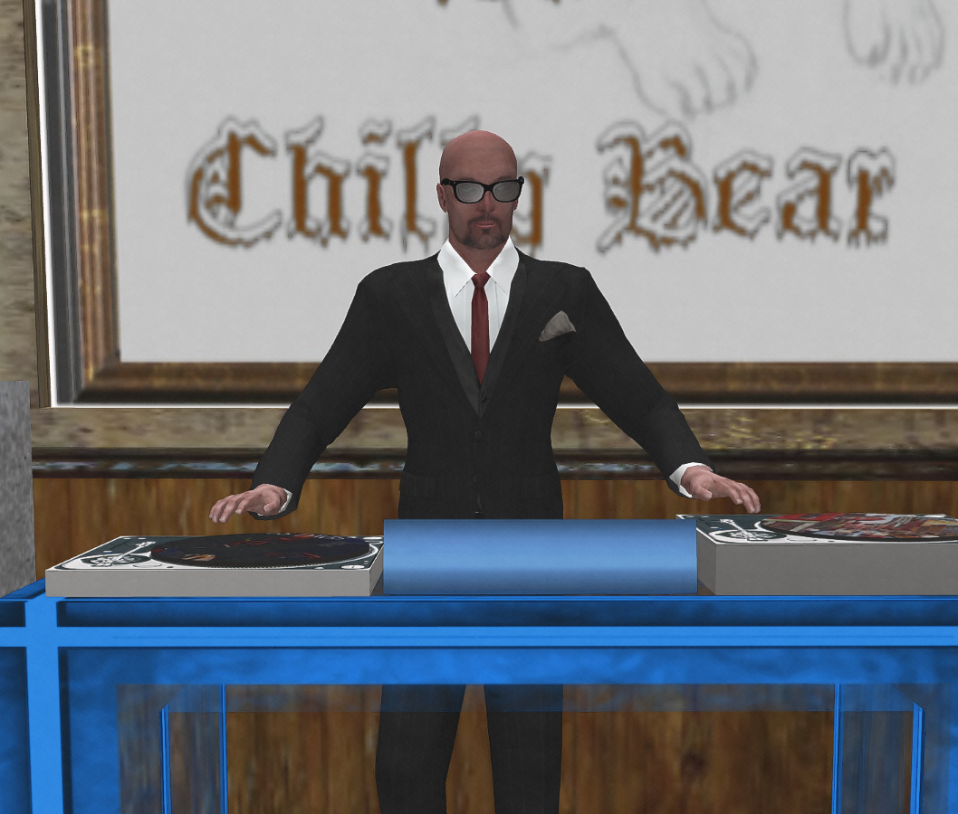 Speelo DJ-ing at the Chilly Bear Club