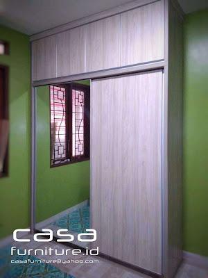 Lemari pakaian sliding 2 pintu Bsd