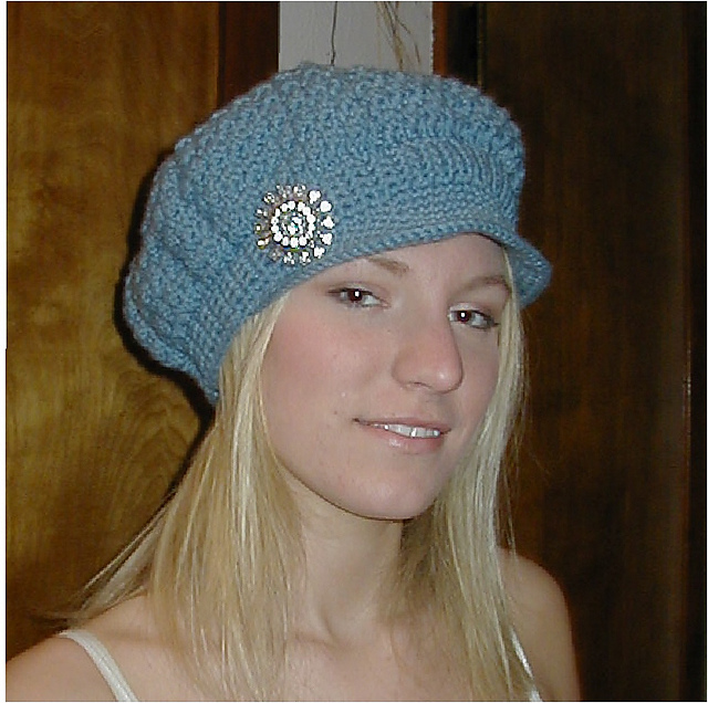 b60635e9399 Positively Crochet!  Newsboy Cap and Medallion Belt - Free Crochet ...