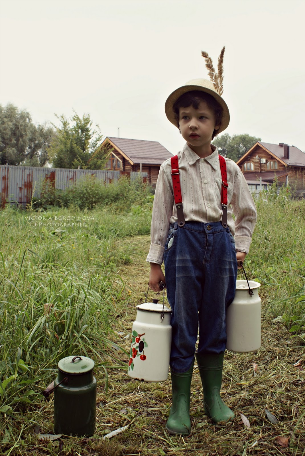 Идеи для фото в деревне дети